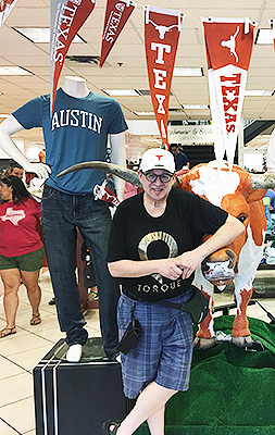 Me in the Univeristy of Texas Bookstore.