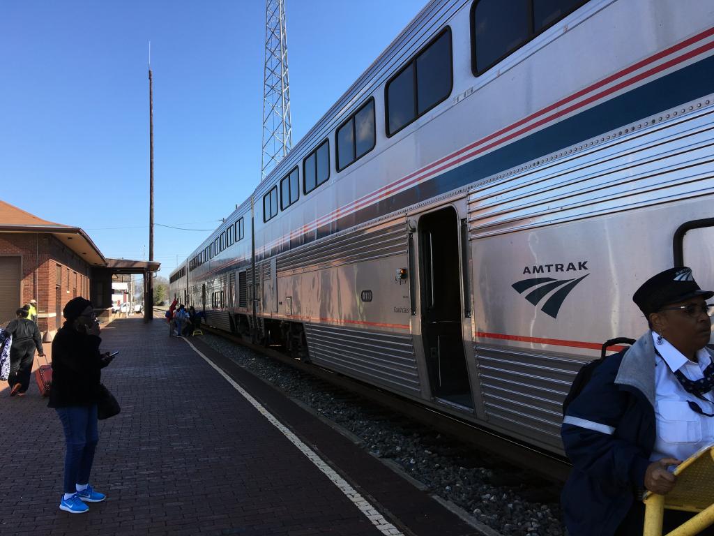 exterior of amtrak train