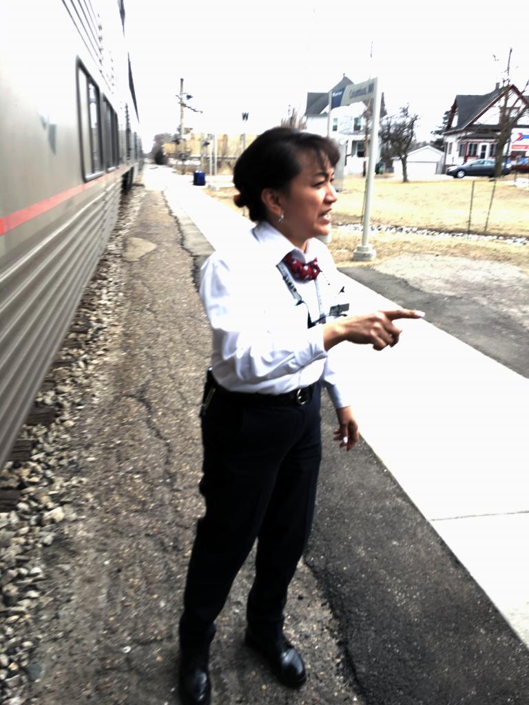 Photo of Amtrak employee.